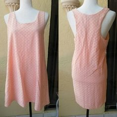 SALE Peach dress Beautiful peach dress with eyelet design. Brand new junior size XL so would fit a women size 12/14 Dresses Mini
