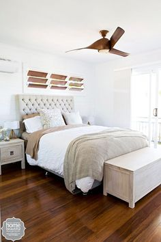 House Rules bedroom in neutral beiges Home Bedroom, Master Bedroom, Bedroom Decor, Bedroom Ideas, Bedroom Inspo, Master Suite, House Rules, Guest Bedrooms, Guest Room