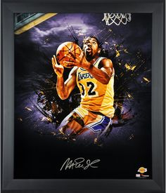 59fe33a1d0d Magic Johnson Los Angeles Lakers Framed Autographed x In Focus  Photograph-Limited Edition of 25 - Fanatics Authentic Certified -  memorabilia breaker deal