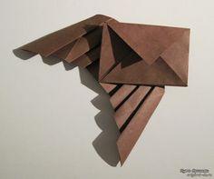 Оригами конверт с крыльями