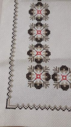 This Pin was discovered by Nil Cross Stitch Borders, Cross Stitch Flowers, Cross Stitch Designs, Cross Stitching, Cross Stitch Embroidery, Embroidery Patterns, Hand Embroidery, Cross Stitch Patterns, Palestinian Embroidery