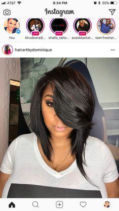 Weave Hairstyles, Pretty Hairstyles, Girl Hairstyles, Straight Hairstyles, Short Hair Cuts, Short Hair Styles, Bob Styles, Hype Hair, Hair Game