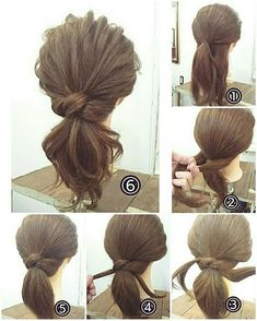 Simple low ponytail