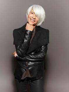 grey hair, silver hair