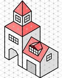 Isometric Drawing Exercises, Isometric Paper, Perspective Drawing Lessons, Graph Paper Art, Shading Techniques, Geometric Drawing, Isometric Design, Math Art, Paper Drawing