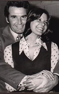 """James Garner with daughter Gigi Gigi said: """"I'll never forget the morning of the Sylmar earthquake. My dad happened to be in the shower when the house started shaking so violently that he was literally thrown out of it. Since I was going to work with him that day, I was already awake and was paralyzed with fear, watching the books fly off the shelves. But, as soon as I heard him running down the hallway to my room, I knew everything would be alright."""""""