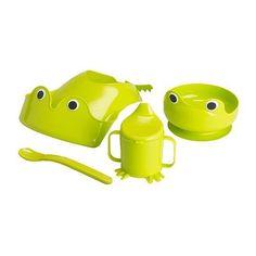MATA Babygeschirr 4-tlg. IKEA Ein Saugring sorgt für Standfestigkeit des Tellers.