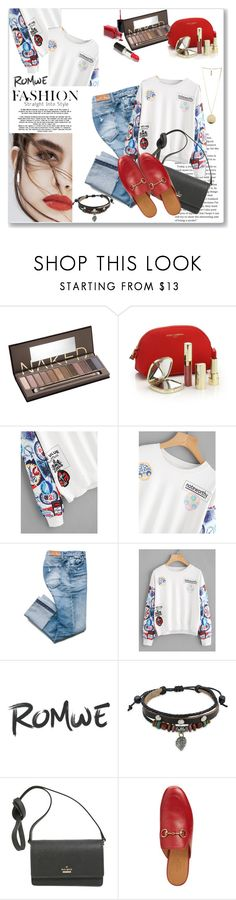 """""""Into Fashion"""" by tattooedmum ❤ liked on Polyvore featuring Beauty Secrets, Urban Decay, Dolce&Gabbana, Lily Jean, Bling Jewelry, Kate Spade, Gucci, Givenchy, romwe and gucci"""