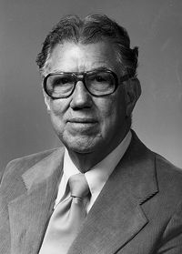 Edgar L. Harden, President Emeritus, Michigan State University, Spring Commencement 1980
