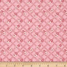 Spring Showers Floral Lattice Pink from @fabricdotcom  Designed by Kaye England and licensed to Wilmington Prints, this cotton print fabric is perfect for quilting, apparel and home decor accents. Colors include shades of pink and ivory.