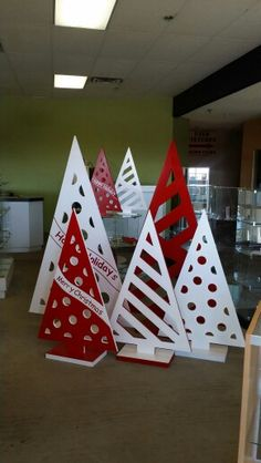 MDF christmas tree display