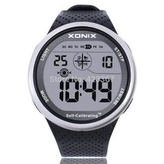 159762e6a44 Mens Sports Watch Digital Waterproof 100m Chrono Self Calibrating