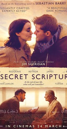 Vanessa Redgrave, Eric Bana, Rooney Mara, and Jack Reynor in The Secret Scripture Vanessa Redgrave, Drama Movies, Hd Movies, Movies To Watch, Movies Online, Quotes Thoughts, Life Quotes Love, Eric Bana, See Movie