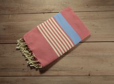 Le Portofino Fouta-Rouge with Cream/Blue by FineFoutas on Etsy