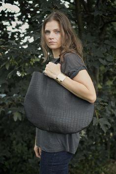 Black Leather Hobo Bag, every day bag, tote bag