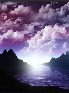 lindo Purple clouds - beautiful but a little forefoding. pintoons.com
