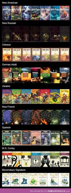 Harry Potter Book Covers Around the World
