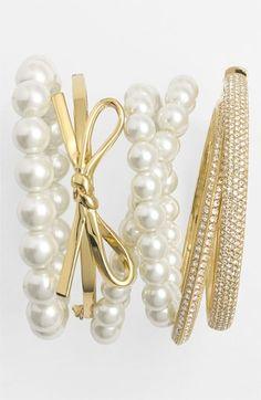 Retro Femme accessories: Givenchy Bracelets  kate spade new york bangle #stackedwrist #Nordstrom