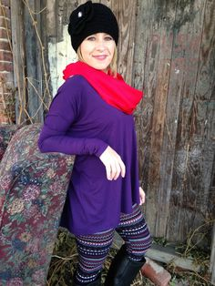 Long Sleeve Purple Piko Top – D. Bradley & Company, Inc $29.99 www.shopdbradley.com