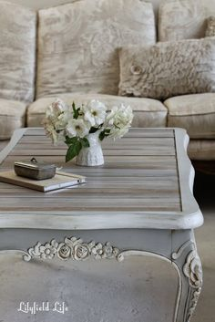 french style coffee table #ascp #parisgrey #purewhite