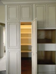 Looks like a regular cabinet - it's a walk in pantry.