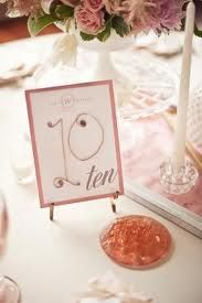 wedding table number ideas