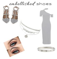 """Embellished shoes 🔥"" by abby-gains on Polyvore featuring Valentino, Topshop and Cartier"