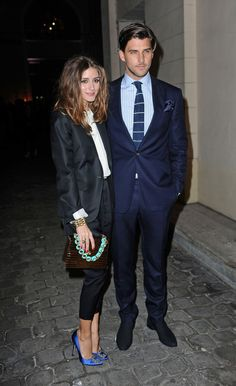 Olivia Palermo and Johannes Huebl attending the Hogan by Karl Lagerfeld party in Parisㅣ March, 2012