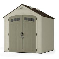 x 7 ft. Resin Storage Shed. Clean up and get organized with the Suncast 7 ft. x 7 ft. Vista Storage Shed. With 327 cu. Shed Door Type: Double. Shed Features: Door Latch,Double Door,Lockable Door,Vents,Windows. Plastic Storage Sheds, Plastic Sheds, Outdoor Storage Sheds, Storage Shed Plans, Outdoor Sheds, Rv Storage, Smart Storage, Storage Organization, Organizing