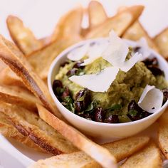 Lima Bean Puree with Olives and Shaved Pecorino // More Appetizer Recipes: http://www.foodandwine.com/appetizer-recipes #foodandwine