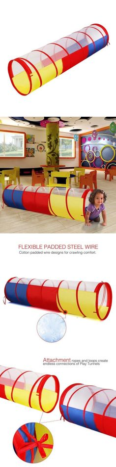 Tunnels 145998 Wolfwise Play Tent Tunnel Pop Up Children Kids Adventure Discovery Toy Tube -  sc 1 st  Pinterest & Tunnels 145998: Cubby-Tube-Teepee 3Pc Pop-Up Play Tent Children ...