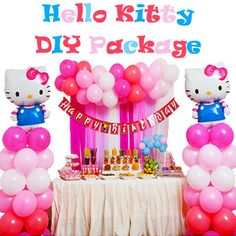 Hello Kitty DIY Backdrop Package  Purchase the Do-It-Yourself Pack from Party Wholesale today!