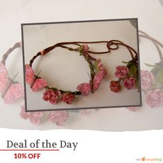 Today Only! 10% OFF this item.  Follow us on Pinterest to be the first to see our exciting Daily Deals. Today's Product: Wedding Pink Silk Flowers hand painted feather butterflies leather braided  lace crown, headband, halo Buy now: https://www.etsy.com/listing/210363793?utm_source=Pinterest&utm_medium=Orangetwig_Marketing&utm_campaign=Summer_sale   #etsy #etsyseller #etsyshop #etsylove #etsyfinds #etsygifts #musthave #loveit #instacool #shop #shopping #onlineshopping #instashop #instagood…