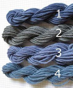 Black bean dyed wool yarn