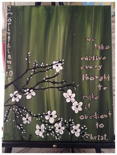 Every Thought Captive by stephaniecherry on Etsy, $20.00