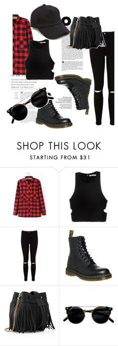 """57"" by calliejenkins ❤ liked on Polyvore featuring WithChic, T By Alexander Wang, Miss Selfridge, Dr. Martens, Whistles and rag & bone"