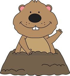 Free Groundhog clipart!