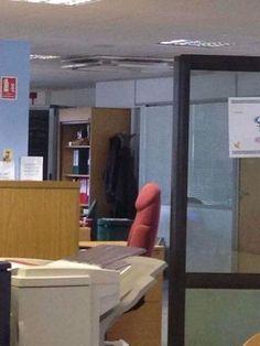 In diesem Büro steht kein Riesendildo.