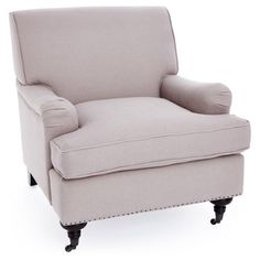 Check out this item at One Kings Lane! Sterling Club Chair, Beige