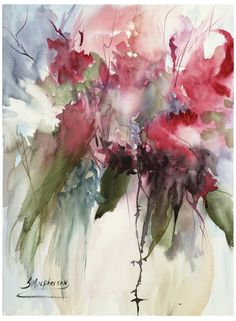 Another wild & loose Watercolor Painting. Explosion in a Vase! 11 x 15 Watercolor. Wishing everyone a great week ahead Watercolor Artists, Abstract Watercolor, Watercolor Paintings, Watercolor Paper, Watercolor Portraits, Abstract Oil, Watercolor Landscape, Abstract Paintings, Oil Paintings