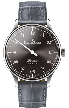 MeisterSinger Watch Pangaea Croco Print Black Watch available to buy online from with free UK delivery. Arnold Son, Antique Clocks, Audemars Piguet, Watches, Breitling, Omega Watch, Detail, Bracelet, Stuff To Buy