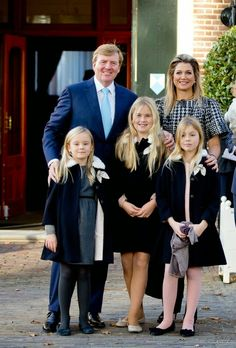 MyRoyals:  Christening in the Netherlands, November 9, 2014-King Willem-Alexander and Queen Maxima with their daughters Princess Ariane, Princess Amalia, and Princess Alexia