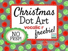 Dot art is fun for all ages and a great way to immediately reinforce correct sound productions.  This 6 page download includes: 3 Christmas themed dot art pages (gingerbread man, Santa, and a Christmas stocking){Be sure to keep checking for the FULL VERSION including every phoneme coming soon!}I find these to be easy, print-n-go, fast-paced and productive articulation activities.
