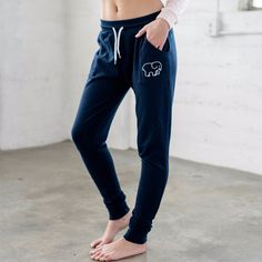 Kick back and relax with this lazy day uniform, paired perfectly with our embroidered hoodie. - Easy fit through leg and thigh - Drawstring elastic waistband - Elastic cuff - Imported - 60% Cotton - 4