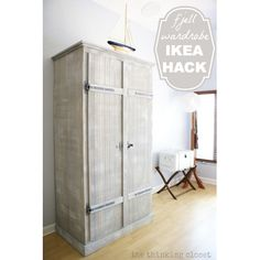 "<center><b>Thinking Closet</b>...<b><a href=""http://www.thinkingcloset.com/2013/07/15/ikea-hack-whitewashed-fjell-wardrobe-with-pallet-shelves/"" target=""_blank"">Ikea Hack White Washed Fjell Wardrobe with Pallet Shelves</a></b>"