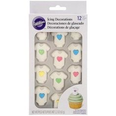 Wilton Royal Decorations Baby Heart Tee ** Continue to the product at the image link. (This is an affiliate link) Baby Boy Cupcakes, Cupcakes For Boys, Baby Shower Cupcakes, Baby Shower Cake Decorations, Royal Icing Decorations, Online Craft Store, Craft Stores, Fabric Crafts, Sewing Crafts