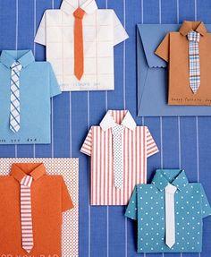 Folded Shirt Card on Martha Stewart