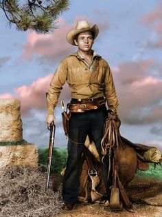 """Audie Murphy in a publicity photograph for """"Gunsmoke"""" Films Western, Old Western Movies, Hollywood Actor, Hollywood Stars, Classic Hollywood, Tv Westerns, Cowboy Art, Le Far West, Classic Movies"""