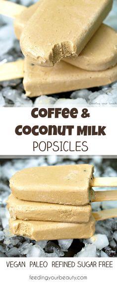 Coconut Milk Popsicles, Healthy Popsicles, Coconut Milk Recipes, Coffee Popsicles, Coconut Cream Popsicle Recipe, Shrimp Coconut Milk, Coconut Milk Whipped Cream, Coconut Milk Yogurt, Coconut Milk Smoothie