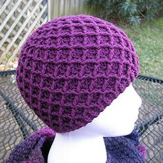 Diamond Ridges Hat - Free Pattern